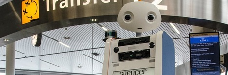 LAAS-CNRS - Spencer robot completed tests guiding KLM passengers at Schiphol | Des robots et des drones | Scoop.it