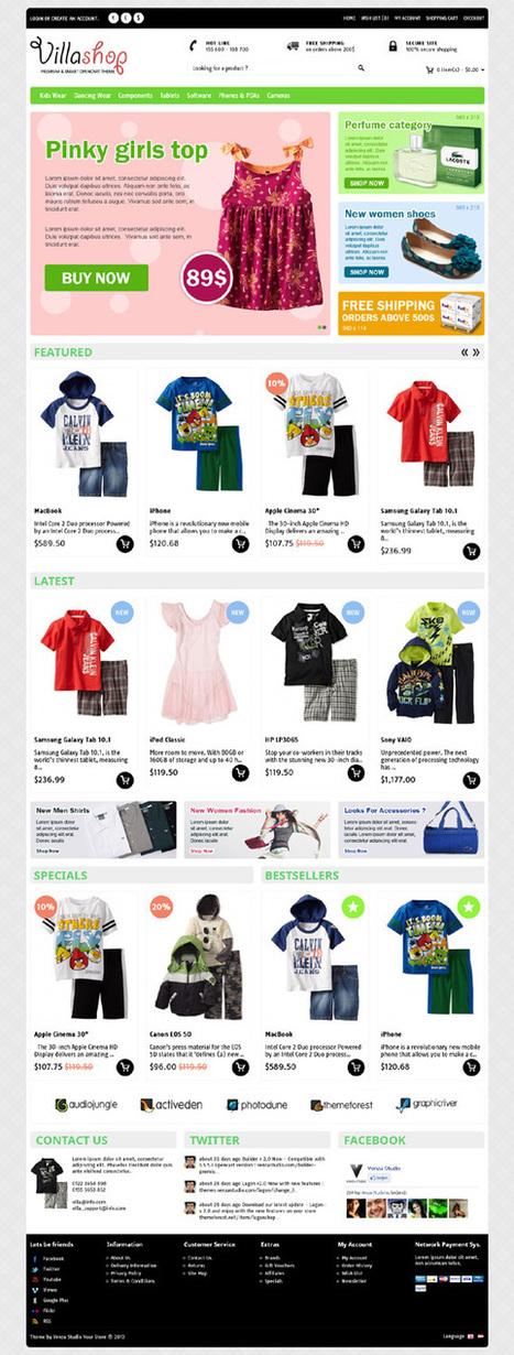 Villa Shop, Opencart Fashion/Kitchen/Fitness Theme | Premium Download | Premium Opencart Themes | Scoop.it