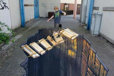 Twitter / NatGeoPaisajes: Arte callejero en 3D ... | Artesanías Los Juanes | Scoop.it