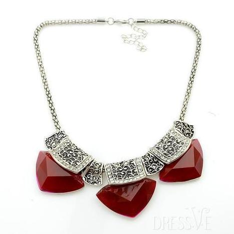 Wine Red Crystal Necklace | Dressve fashion | Scoop.it