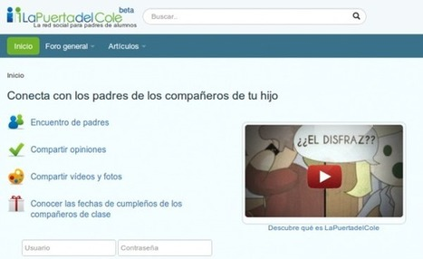 LaPuertadelCole, la red social que conecta a los padres con hijos en la misma clase.- | CIIE DOLORES: TIC, ENTRE LA TEORÍA Y LA PRÁCTICA | Scoop.it