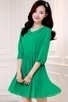 Pleated Chiffon A-line Dress - OASAP.com | Oasap street fashion | Scoop.it