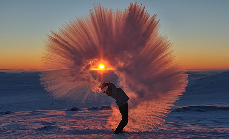 Pouring a Thermos of Hot Tea at -40°C Near the Arctic Circle | Hurtigruten Arctique Antarctique | Scoop.it