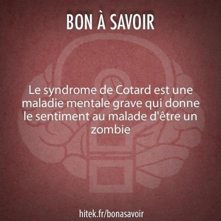 Le syndrome de Cotard donne l'impression d'être un zombie   Les explications scientifiques des mythes   Scoop.it