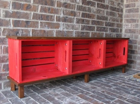 12 Amazing Wooden Crates Furniture Design Ideas | Upcycled Objects | Scoop.it
