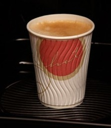 Double-walled vending cup