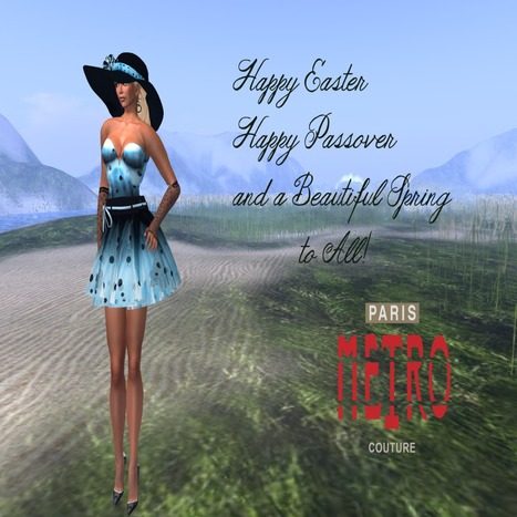 Light Blue Mini Dress Group Gift by Paris METRO Couture | Teleport Hub | Second Life Freebies | Scoop.it
