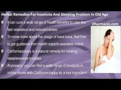 Natural Herbal Remedies To Cure Insomnia And Sleeping Problem In Old Age   Ten Ten Formula   Scoop.it