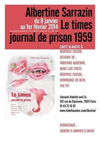 [exposition] Albertine Sarrazin, le times, journal de prison 1959, Paris | Poezibao | Scoop.it