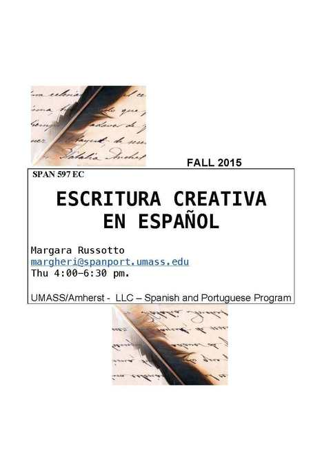 SPAN 597: Escritura creativa en ESPAÑOL | The UMass Amherst Spanish & Portuguese Program Newsletter | Scoop.it