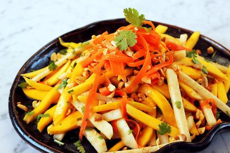 Mango & Jicama Salad | À Catanada na Cozinha Magazine | Scoop.it