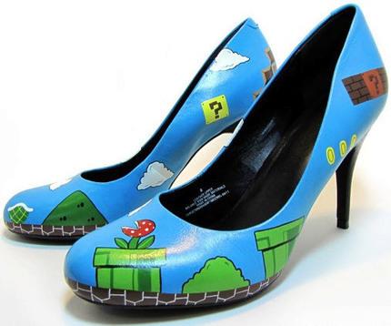 HandPainted Super Mario Heels | All Geeks | Scoop.it