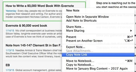 Use Note Links to Connect Essential Content in Evernote | Evernote, gestion de l'information numérique | Scoop.it