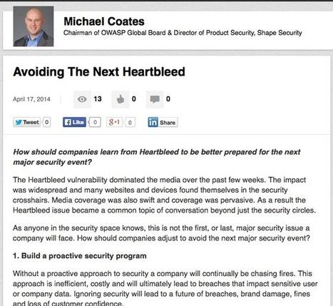 Avoiding The Next #Heartbleed - LinkedIn Publish | #Security #InfoSec #CyberSecurity #Sécurité #CyberSécurité #CyberDefence & #DevOps #DevSecOps | Scoop.it