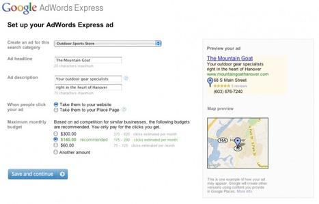 Nouveau service de Google : AdWords Express pour les entreprises locales   Les RP online pour les petites et moyennes entreprises   Scoop.it