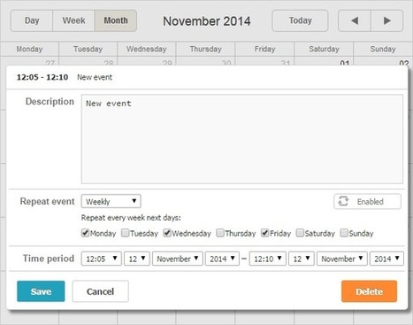 Recurring Events in dhtmlxScheduler with Ruby on Rails - Part II   DHTMLX JavaScript UI Library   Scoop.it