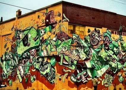 On Vacation In Detroit, European Graffiti Artists Are Painting The Town - Deadline Detroit | Artoy | Scoop.it
