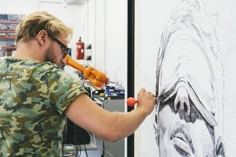 Long Distance Art - One artist, two robots and three paintings in Vienna, Berlin and London | Architecture, design & algorithms | Scoop.it