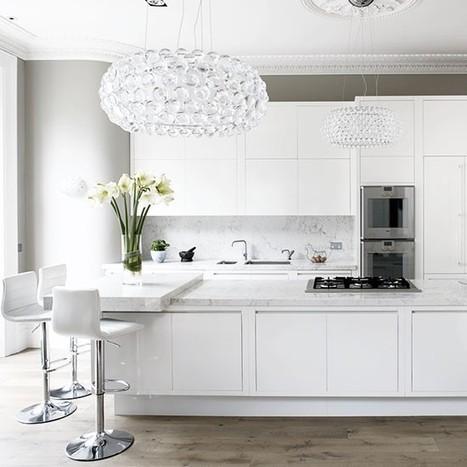 Glamorous white kitchen | White kitchen design ideas | Room idea | housetohome.co.uk | Interior Design Trends | Scoop.it