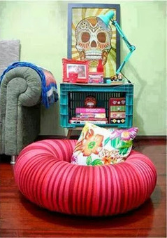 DIY : un pouf donut dans un pneu! | DIY DIY | Scoop.it