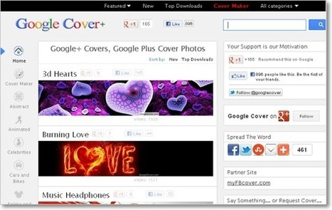 10 Best Sites to find Amazing Google Plus Cover Photos | Tech Shortly | How to use Google+ in your internet marketing + content strategy | Scoop.it