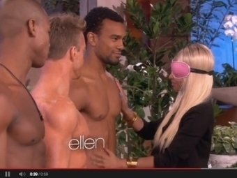 Nicki Minaj Forced To Sniff Semi-Naked Hunks On 'Ellen': Watch Her Ordeal - Idolator: All About The Music | Hunks (Adult Content, NSFW) | Scoop.it