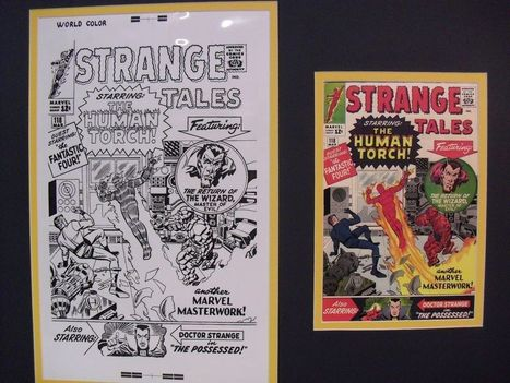 "Original Production Art JACK KIRBY, STRANGE TALES #118 matted w/cover print | Jack ""King"" Kirby 