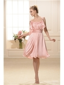 $ 62.19 Graceful Straps Empire Waist Knee-Length Bridesmaid Dresses | wedding and event | Scoop.it