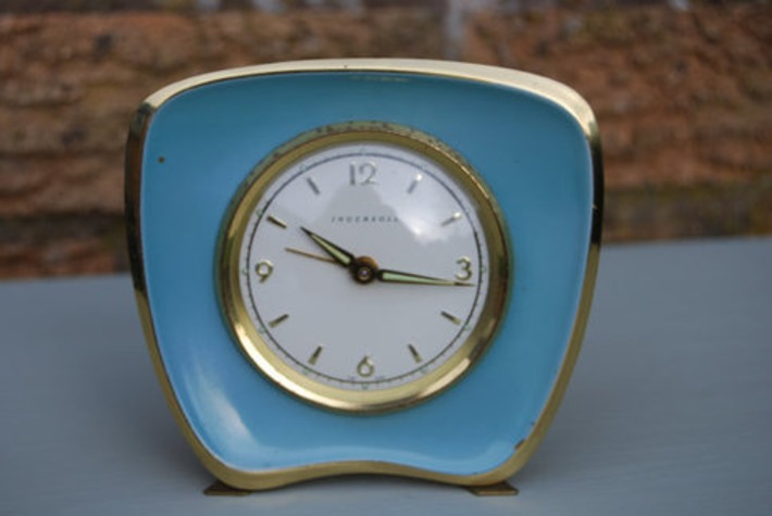 Ingersoll Enamel Alarm Clock   Antiques & Vintage Collectibles   Scoop.it