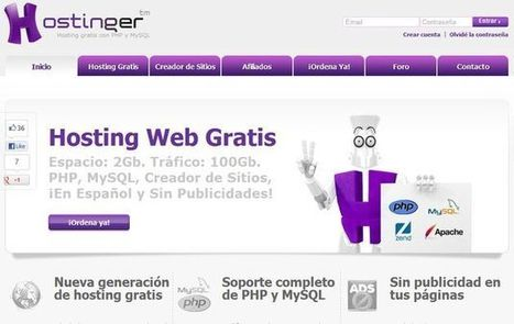 Hostinger, hosting gratuito sin publicidad con 2 Gb de espacio y 100 Gb de tráfico | #MarketingDigital | Scoop.it