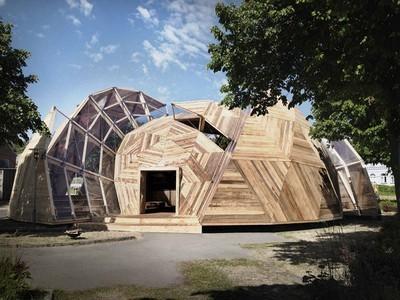 Geo Dome gebouwd met  Recycled Hout | Creatief Hergebruik | Scoop.it