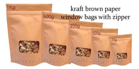 Brown paper bags with window | Kraft Brown paper bags | Scoop.it