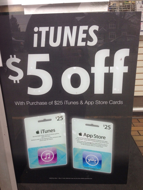Canadians: Another 20% off iTunes and App Store Cards at 7-11! | iPads, MakerEd and More  in Education | Scoop.it