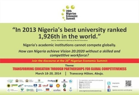 Join the Discussion on Education at the 20th Nigerian Economic ...   Education   Scoop.it
