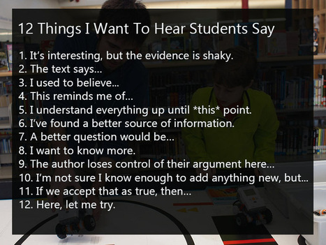 What Teachers Want To Hear Students Say | Prendi eLearning Literacy & Humanities Technology | Scoop.it