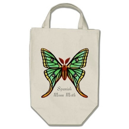 Spanish Moon Moth Customizable Bag from Zazzle.com | Messenger Bags, Purses & Totes | Scoop.it