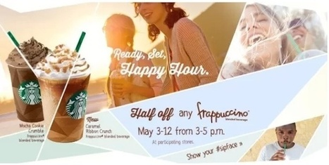Starbucks Happy Hour Frappuccinos May 2013: All the Details! | Cultural Trendz | Scoop.it