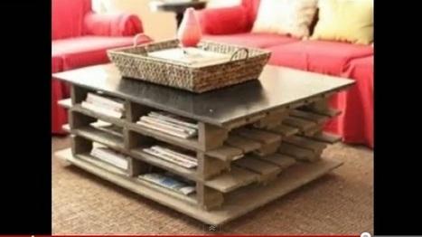Déco Récup': table basse palette et autre meuble en palette | Décoration maison | hoe zelf maken | Scoop.it