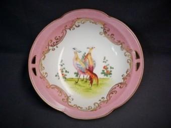 Vintage Morimura Noritake Hand Painted Japan Porcelain Bowl Birds Pinks Gold 2 Handle | Vintage Passion | Scoop.it