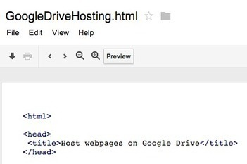 Host webpages on Google Drive | Time to Learn | Scoop.it