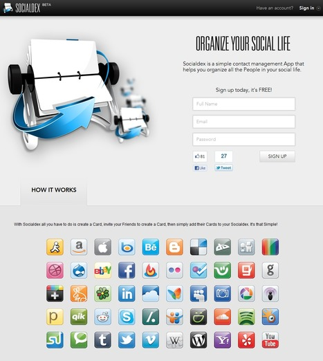 Socialdex : Organize your social life | Time to Learn | Scoop.it