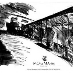 Exposition Diane Cazelles – Aboubakar Fofana  chez MONA MARKET   MOna MArket Montpellier   Scoop.it