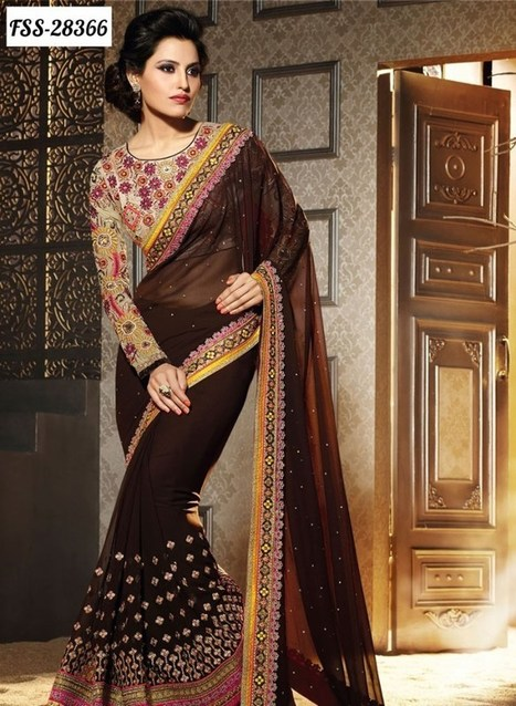 Anarkali Sarees in Traditional Style Costume for Party wear | Top Teen Style | stylish lawn dresses | Scoop.it