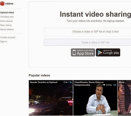 Viddme, la nouvelle plateforme de partage vidéos en ligne | Le Top des Applications Web et Logiciels Gratuits | Scoop.it