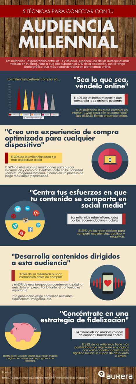 5 técnicas para conectar con tu audiencia millennial #infografia #infographic #marketing | Geeky Tech-Curating | Scoop.it
