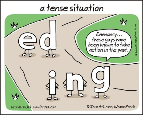 "Fun Cartoon For English Teachers: ""A Tense Situation"" 