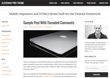 eleven40 v2.0 WP Theme by StudioPress [F] | Download Free Full Scripts | ashfaq hacker | Scoop.it