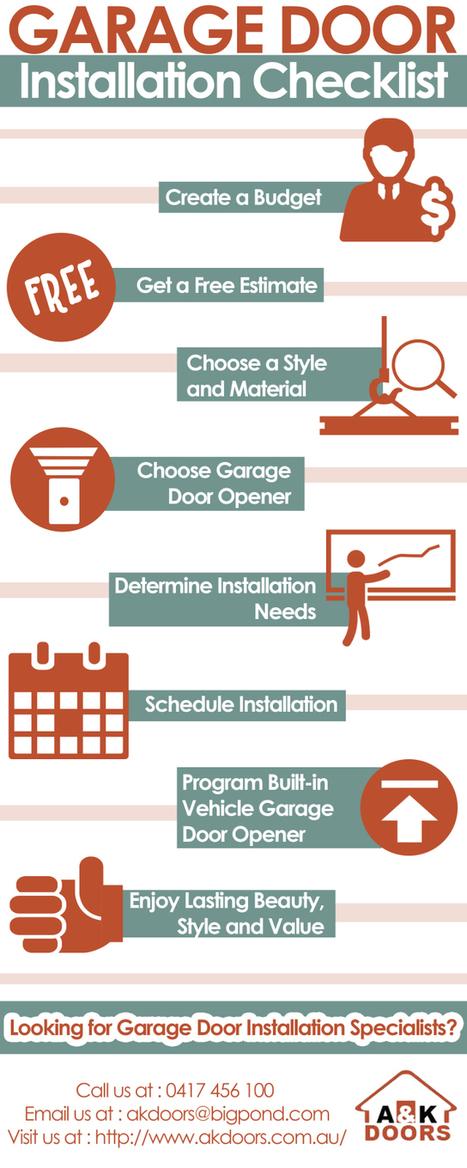 Garage Door Installation Checklist | Garage Doors Sydney | Scoop.it