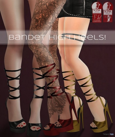 Bandet High Heels Group Gift by cheeky | Teleport Hub - Second Life Freebies | Second Life Freebies | Scoop.it