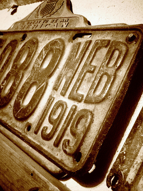 Nebraska 1919 License Plate by Michael Peterson | MobilePhotography | Scoop.it